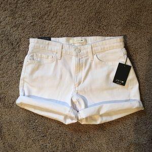 """Women Joe's Jeans White Denim """"The Rolled Short"""""""